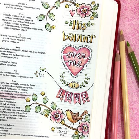 Bible Journaling Using Color Your Own Bookmarks As Tracers