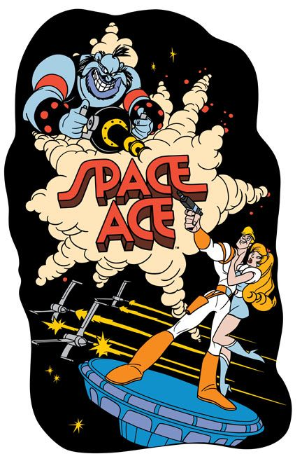 New Space Ace Sideart Set Retro Gaming Art Pinball Art Retro Gaming