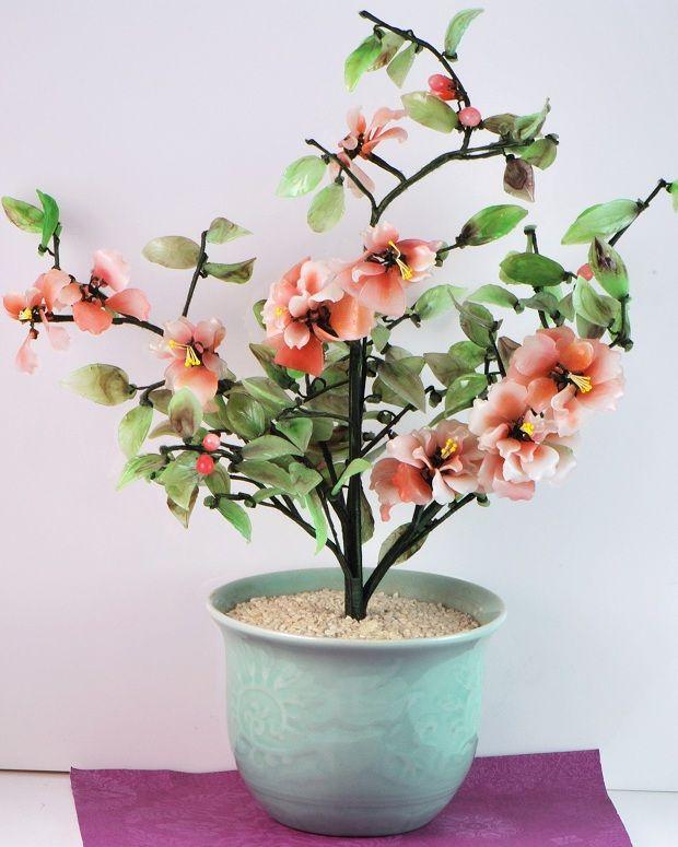 Oriental Glass Floral Arrangements   flower arrangement in ...