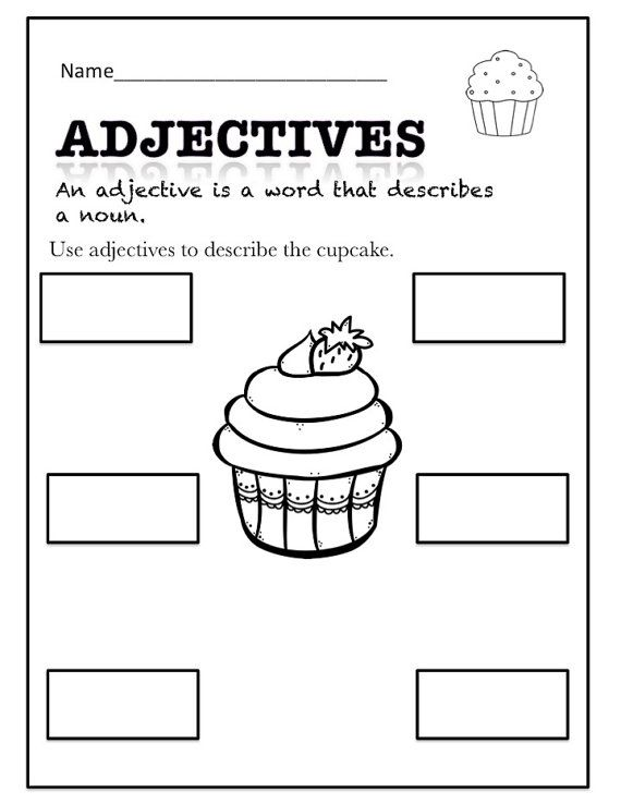 Adjectives Fun Printables By Foryoubyednakeefe On Etsy With