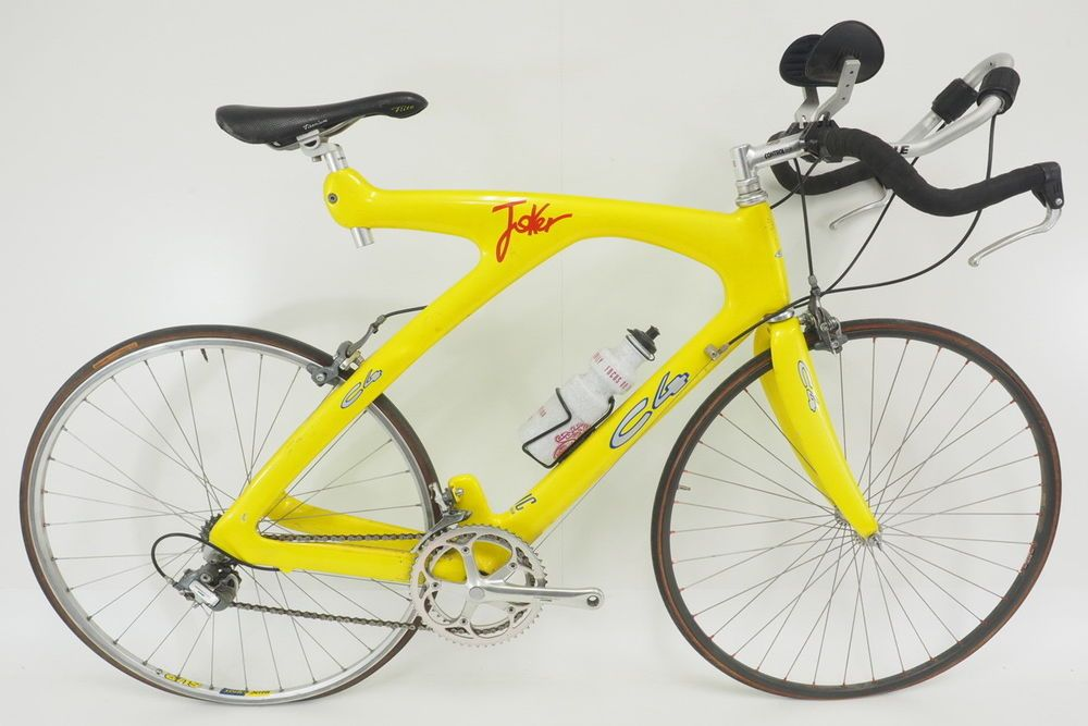 Vintage C4 Joker Tt Tri Road Bicycle Size Large Carbon Frame 700c Wheels Yellow Road Bicycle Bicycle Tri