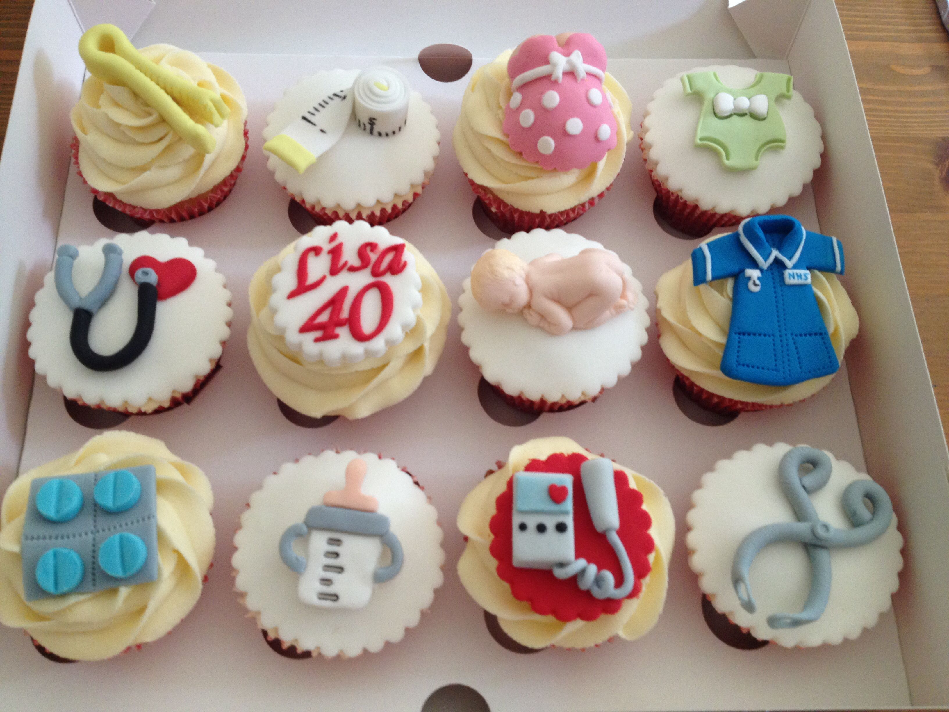 my pal s retirement cake she s a midwife cute ideas midwife cupcakes
