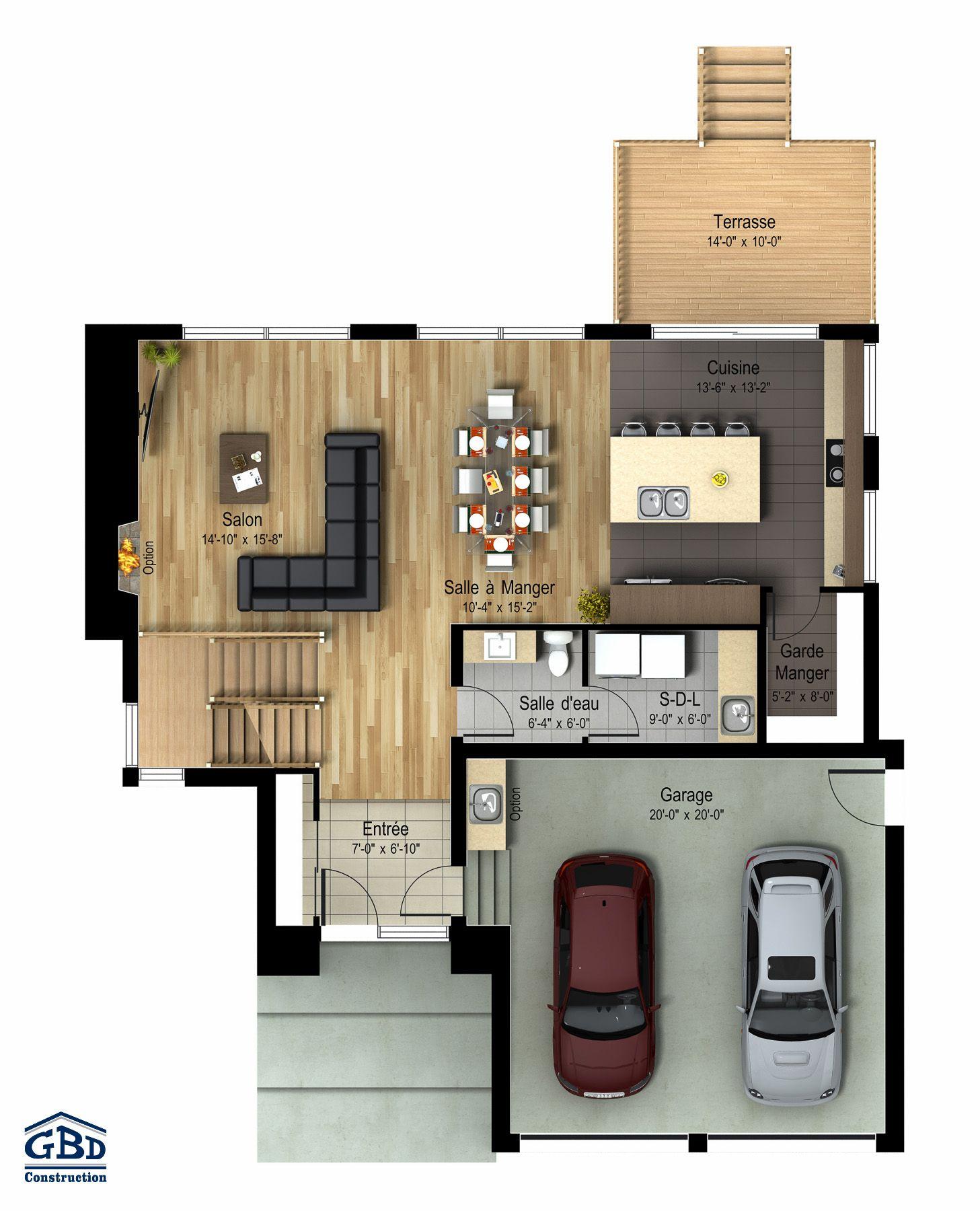 Manhattan maison neuve à deux étages de type cottage gbd construction