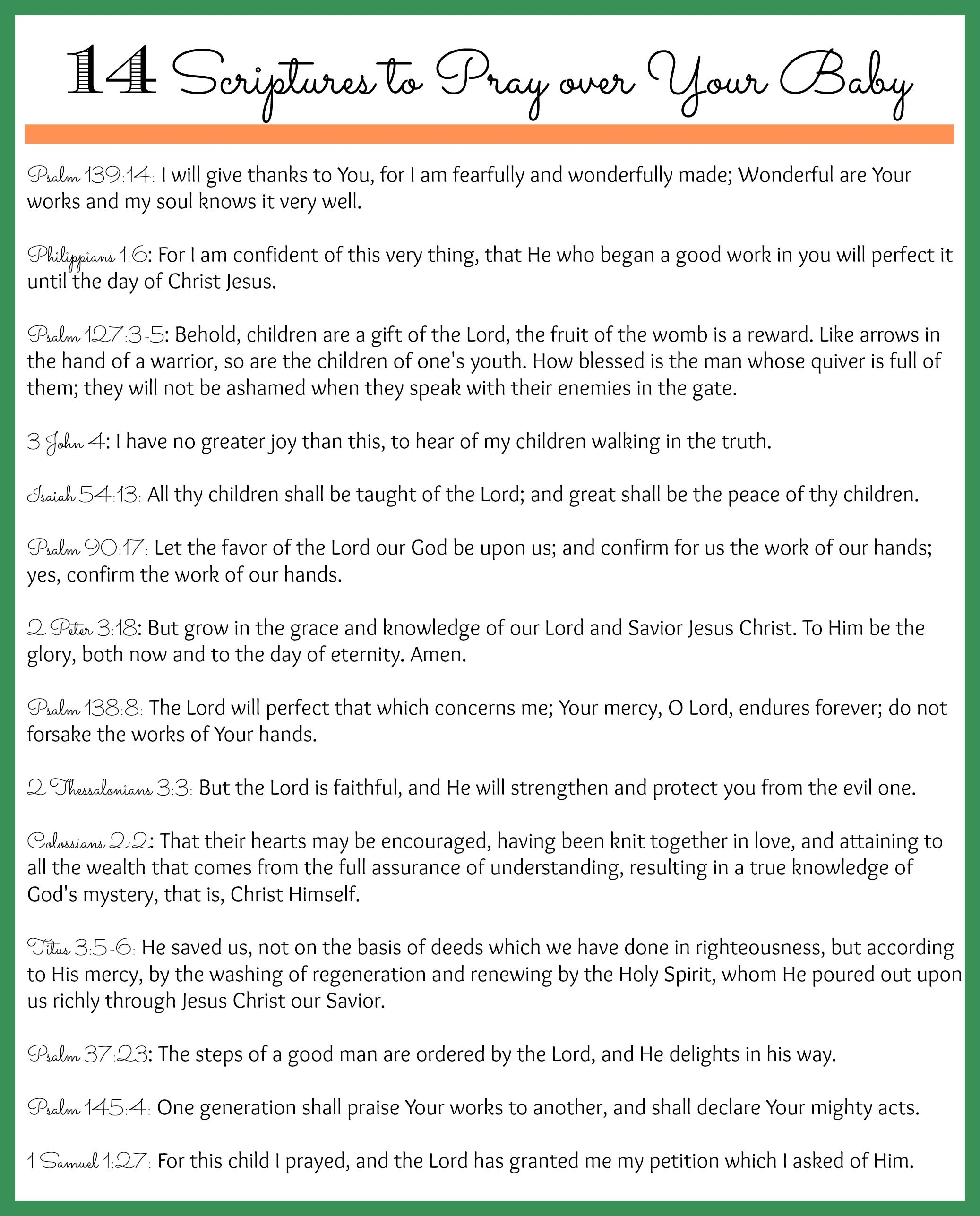 14 scriptures to pray over your unborn baby and other children 14 scriptures to pray over your unborn baby and other children too negle Choice Image