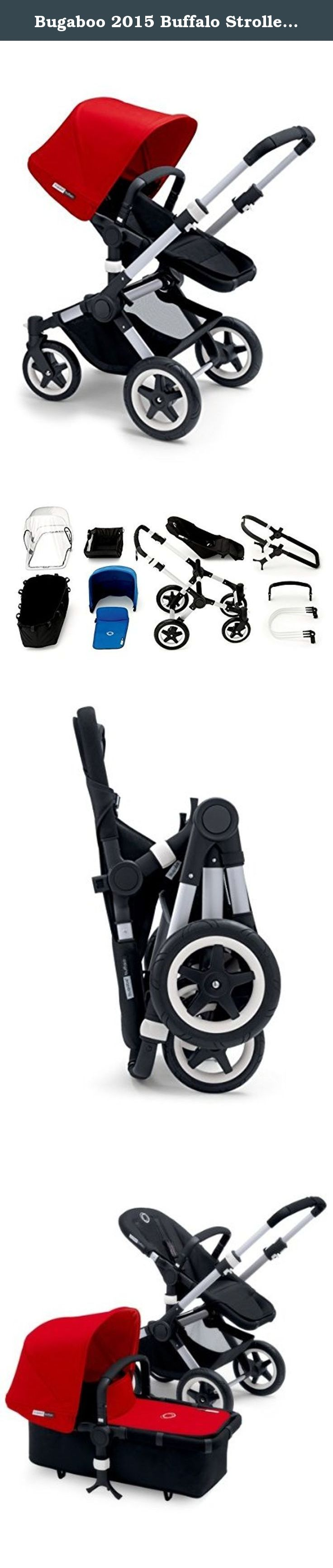 Bugaboo 2015 Buffalo Stroller Complete Set in Aluminum and
