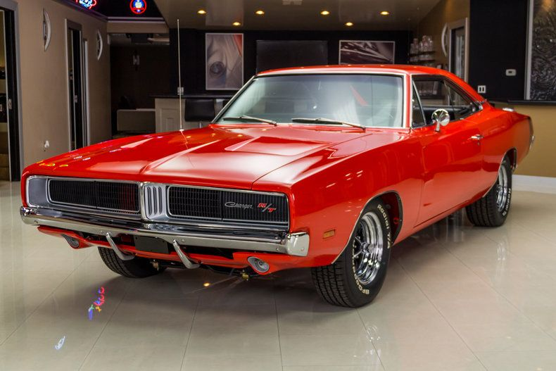 red 1969 dodge charger