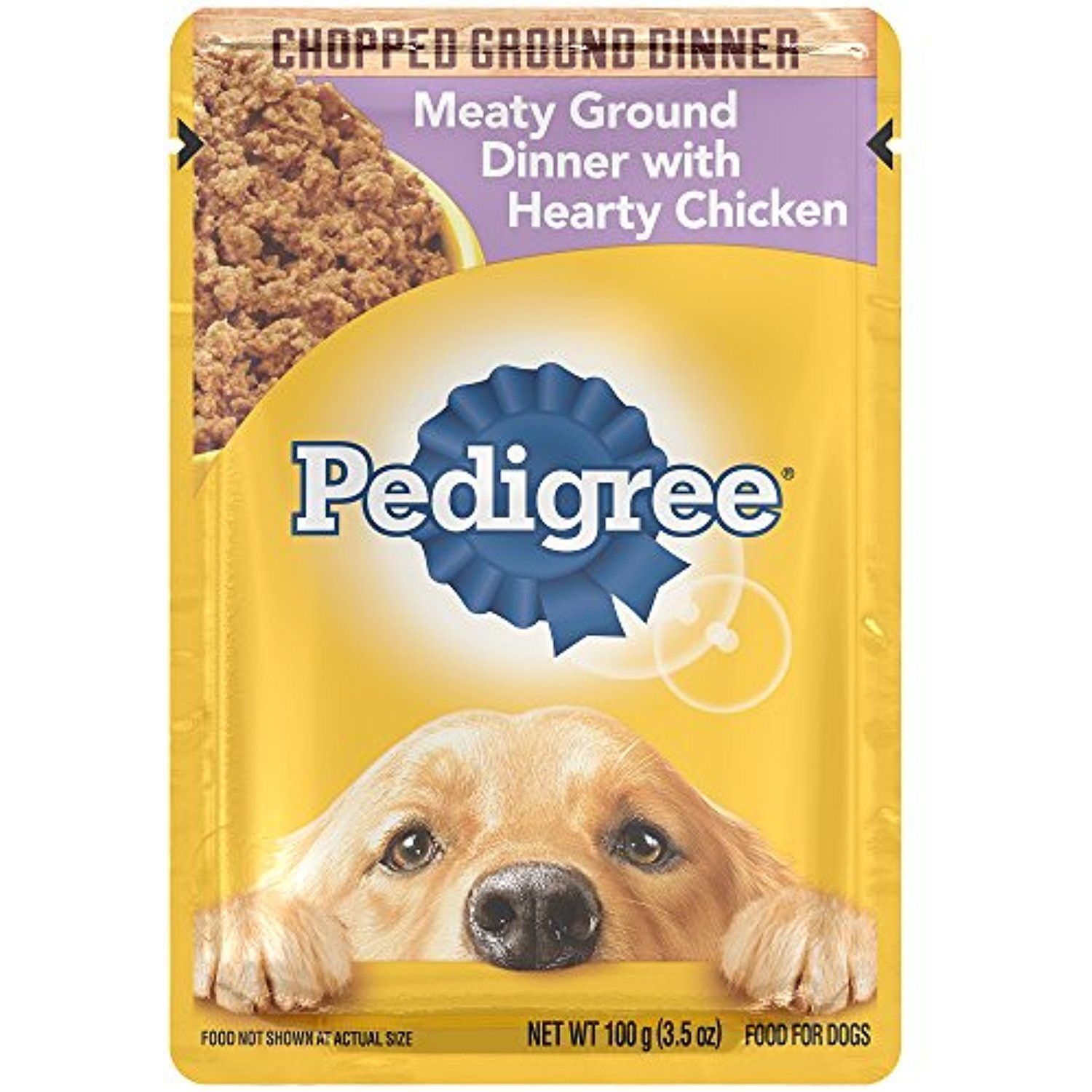 Pedigree Chopped Meaty Ground Dinner With Hearty Chicken Wet Dog