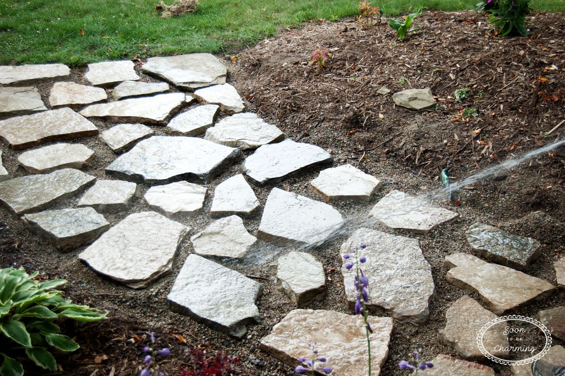 How To Lay A Flagstone Pathway - Soon To Be Charming