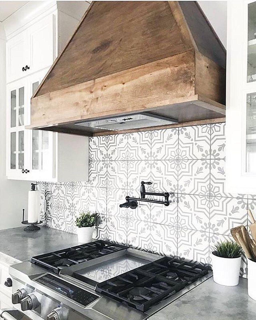Nice 48 Cool Modern Farmhouse Kitchen Backsplash Ideas