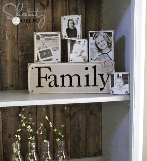 Diy nailhead photo blocks scrap nail head and woods diy nailhead family photo blocks great gift idea for family mothers or fathers day solutioingenieria Images