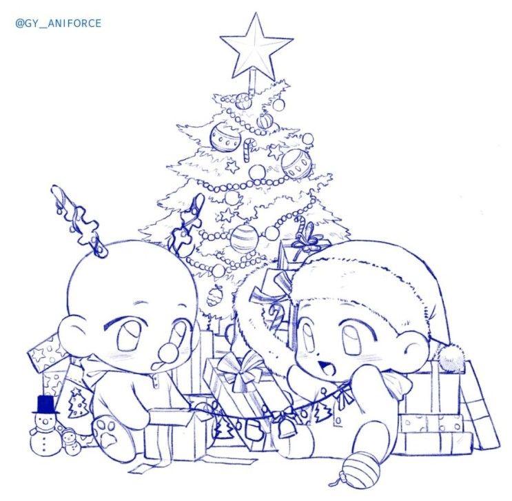 크리스마스 이메레스 1편 링크도 달아둘게요 Https Blog Naver Com Ffuck U 221712207627크리스마스 이 2020 그리기 도전 크리스마스 그림 만화 예술