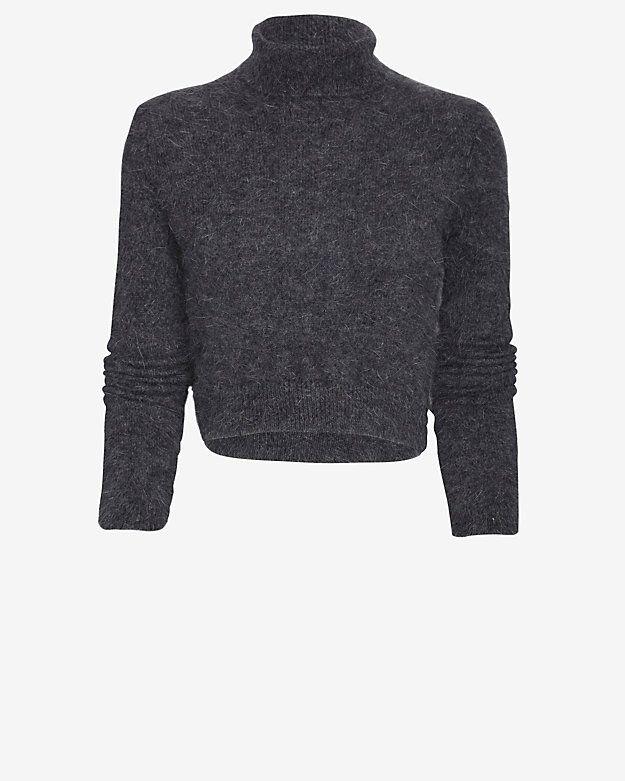 Exclusive for Intermix Turtleneck Knit Crop Top