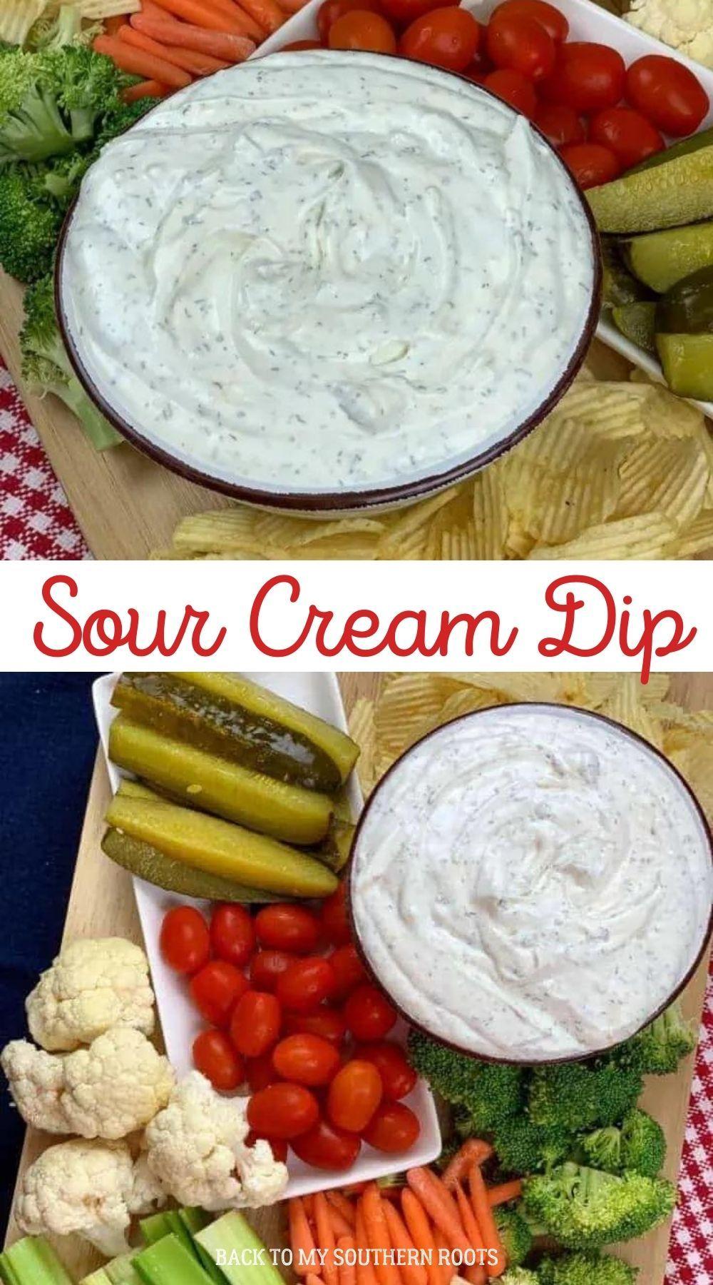 Sour Cream Dip Recipe In 2020 Sour Cream Dip Cream Dip Sour Cream