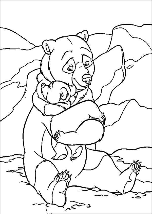 Brother Bear Hugging Her Son Coloring Pages For Kids Csb Printable Brother Bear Coloring Pages For K Bear Coloring Pages Horse Coloring Pages Bear Paw Quilt