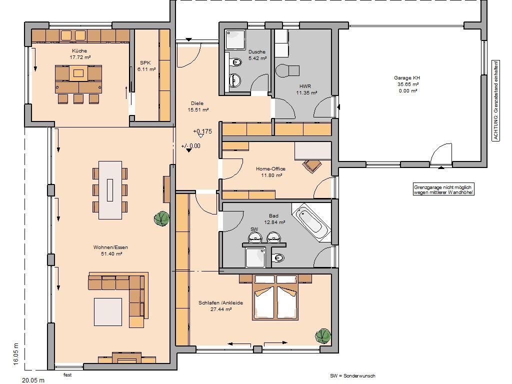h user grundriss bungalow grundrisse und h uschen grundrisse. Black Bedroom Furniture Sets. Home Design Ideas