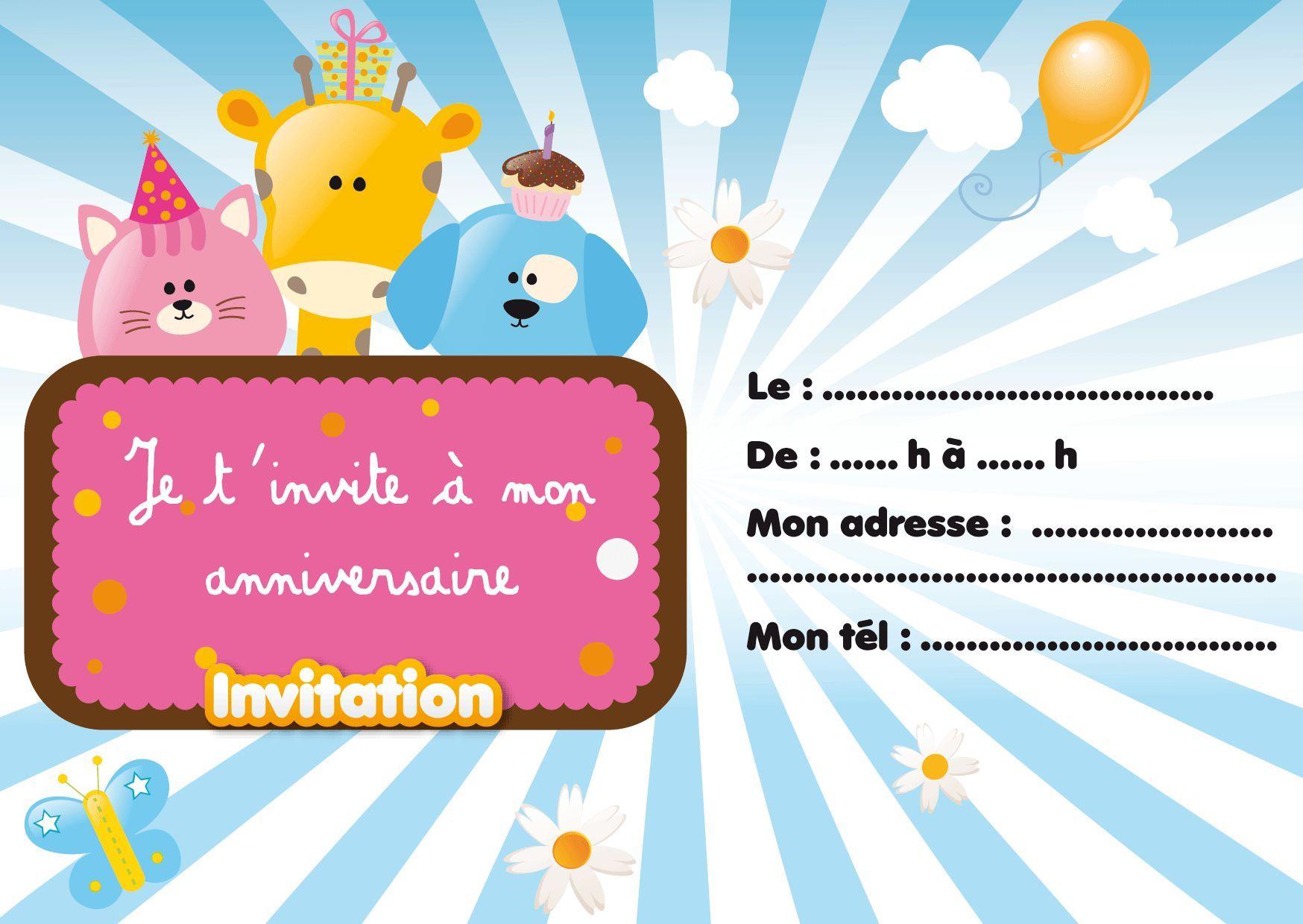 Carte Invitation Anniversaire A Imprimer Gratuite Adulte Carte