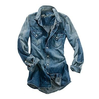 0789143c1a2 Every girl s closet needs a great denim shirt.Or maybe wear it as a dress  )
