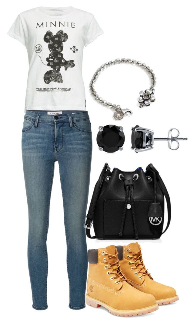 """Casual wear"" by jacquelinebroersen on Polyvore featuring mode, Neff, Frame Denim, Timberland, MICHAEL Michael Kors, BERRICLE, Sweet Romance, women's clothing, women en female"
