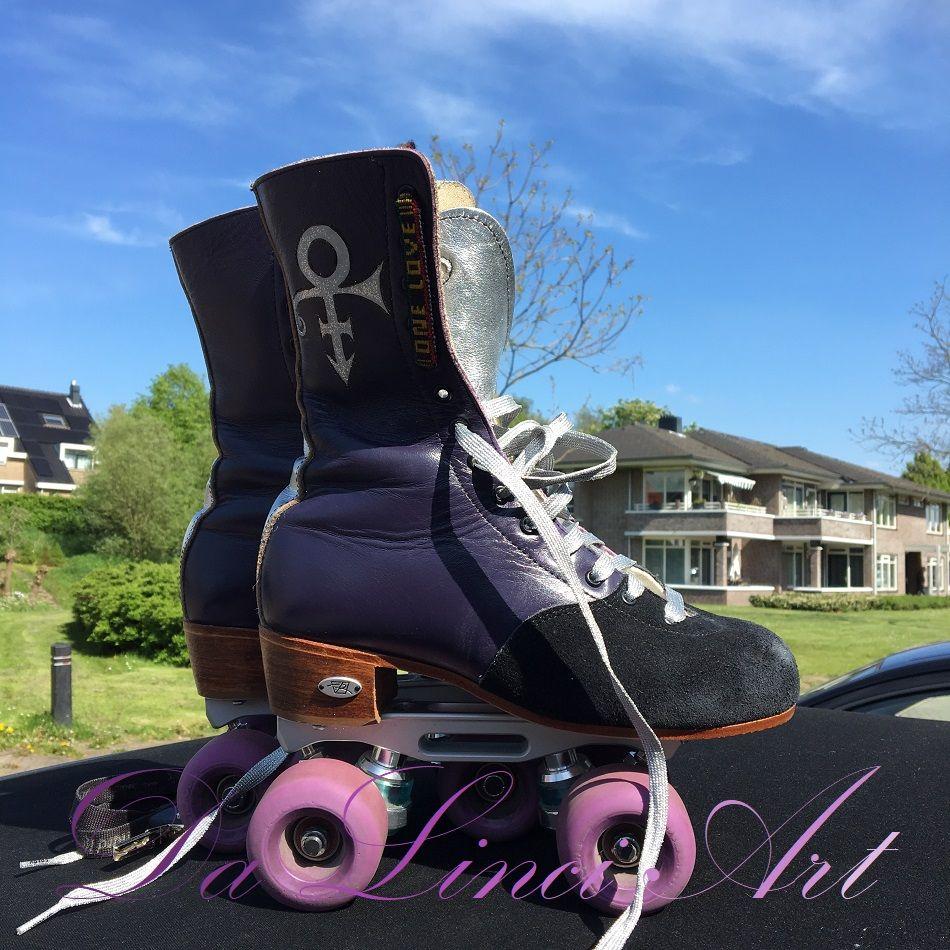 Purple Prince Skates Made By Linda Roos Da Linci Art Www Dalinciart Nl Zwijndrecht Esquintfoundation Purple Purpl Roller Skates Skate Art Purple Love