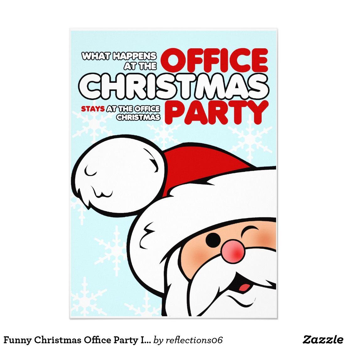 Funny Christmas Office Party Invitations Happy Holidays