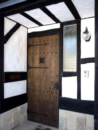 アンティーク仕上げのドア おしゃれ ドア ドア ハウス