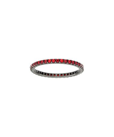 Look what I found on #zulily! Red Diamonique® & Sterling Silver Pavé Eternity Ring #zulilyfinds