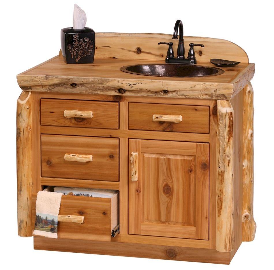 Rustic Log Bathroom Vanity Log Cabin Vanity Pine Log