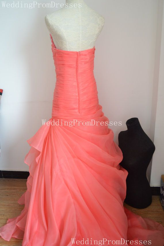 Charming Coral Ball Gown Prom Dress Ball by WeddingPromDresses
