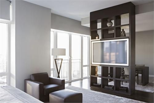 For TV in Master? High-End Custom made built in shelve by Aguirre ...