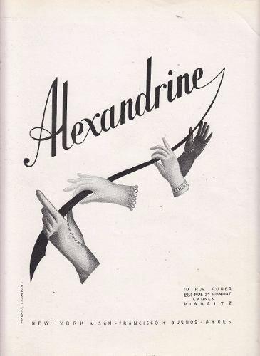 moda antigua publicidad maison alexandrine 10 rue auber