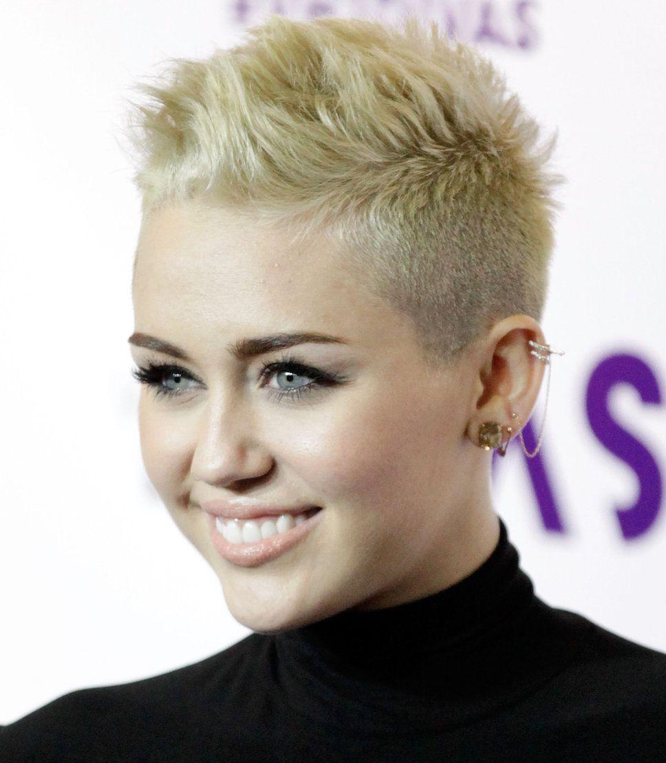 Amazing Pixie Mohawk Miley Cyrus And Platinum Blonde Hair On Pinterest Short Hairstyles For Black Women Fulllsitofus