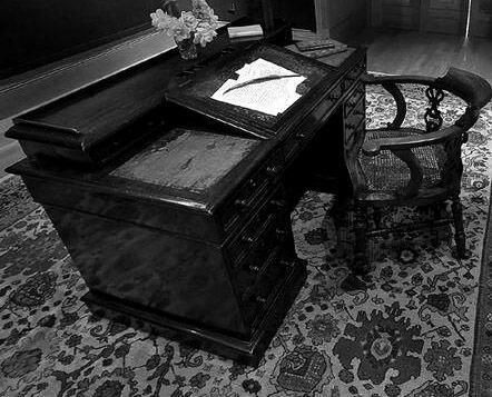 Charles Dickens' writing desk, Gad's Hill Place, Kent, England.