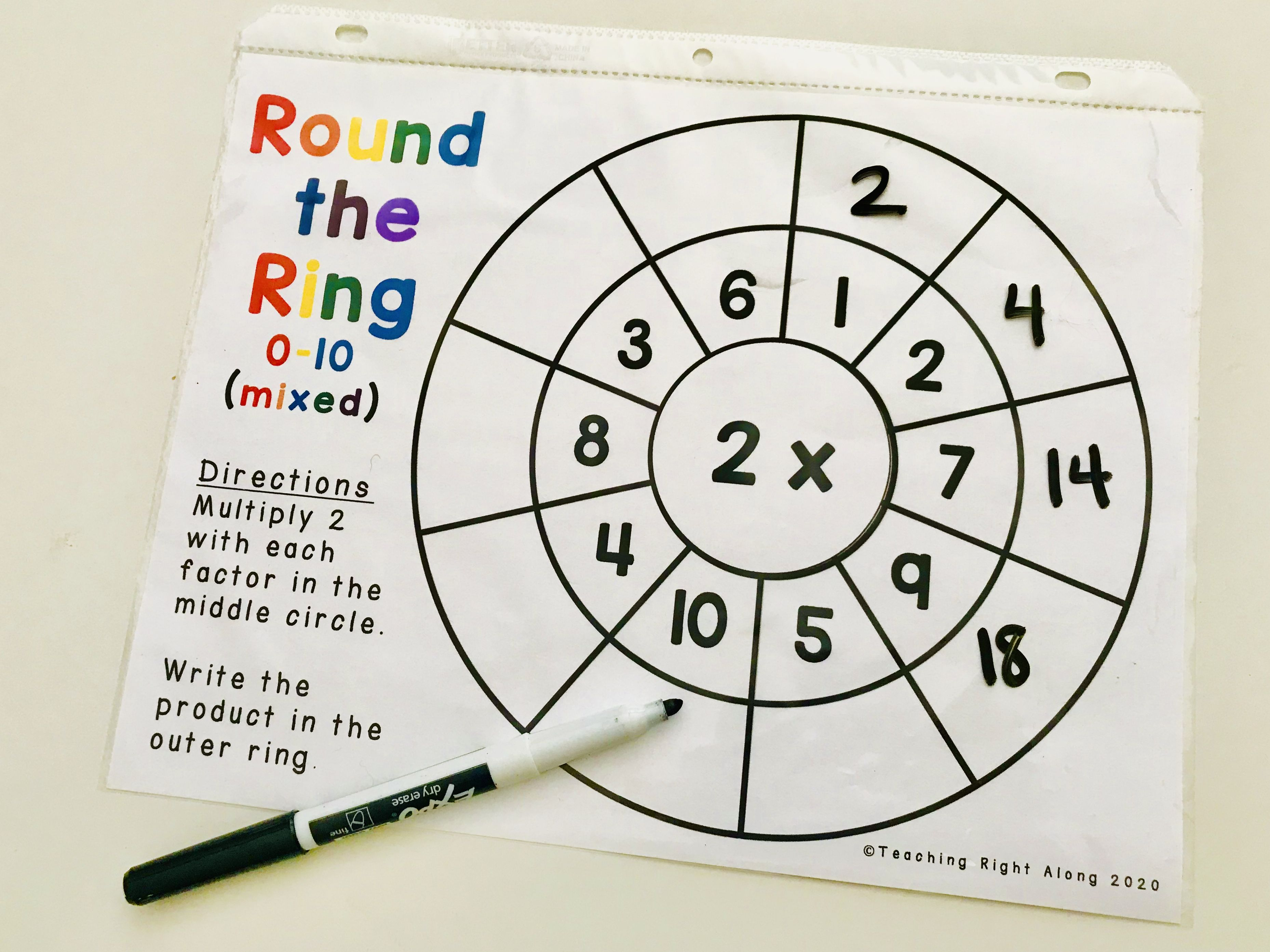 Multiplication Practice Rings For Third Grade Multiplication Facts Fact Fluency Multiplication Practice