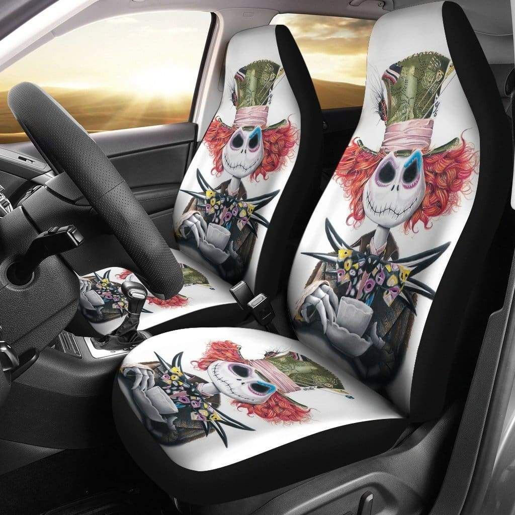 Fine Jack Skellington Mad Hatter Car Seat Covers In 2019 Car Bralicious Painted Fabric Chair Ideas Braliciousco