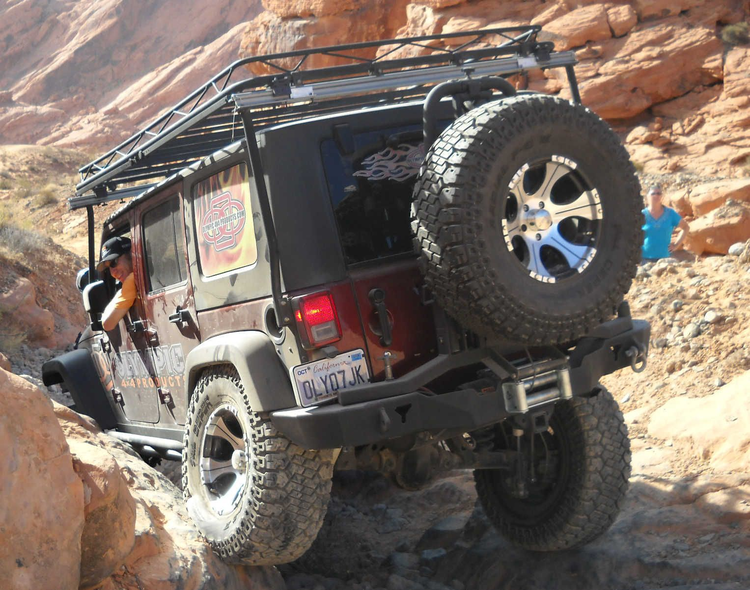 The New Olympic 4x4 Rear Bumper With Tire Swing Swings Out Amp