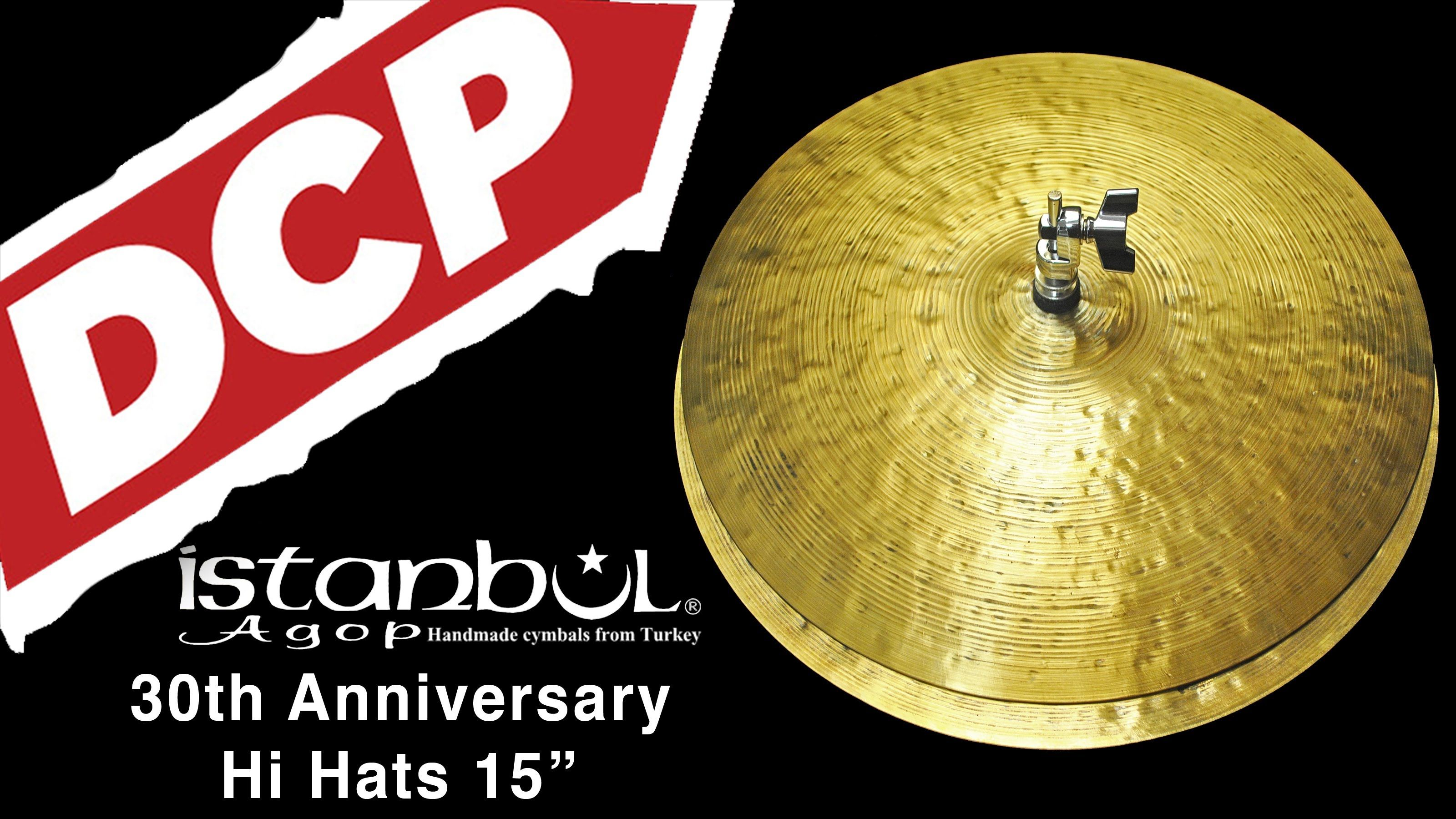 "Istanbul Agop 30th Anniversary Hi Hat Cymbals 15"" 939/1135"