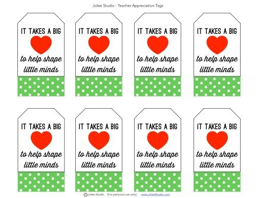 photo about Free Printable Teacher Appreciation Tags known as Enjoyment Friday: Free of charge Printable Trainer Appreciation Tags