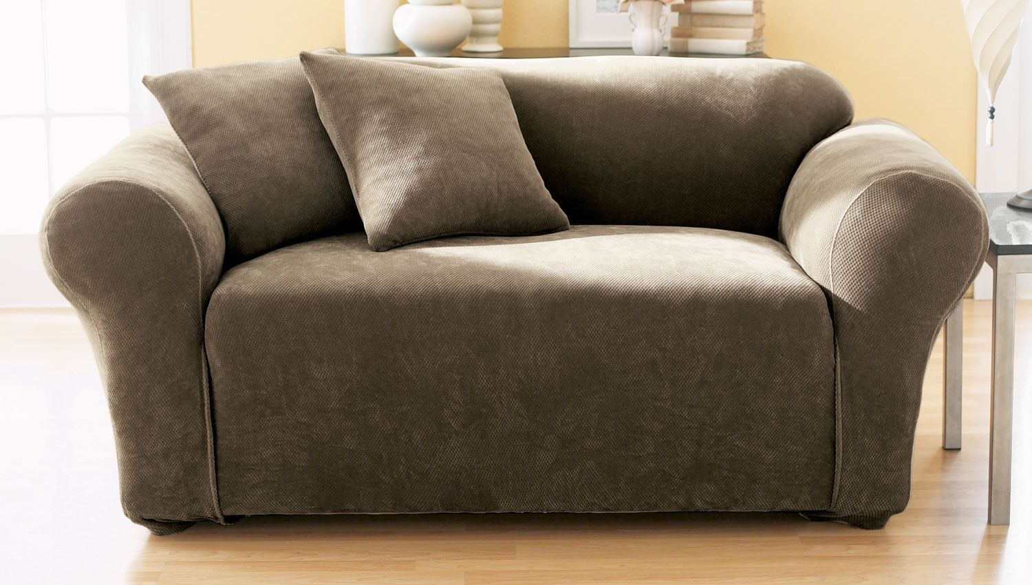 Stretch Pique Box Cushion Loveseat Slipcover Products Slipcovers