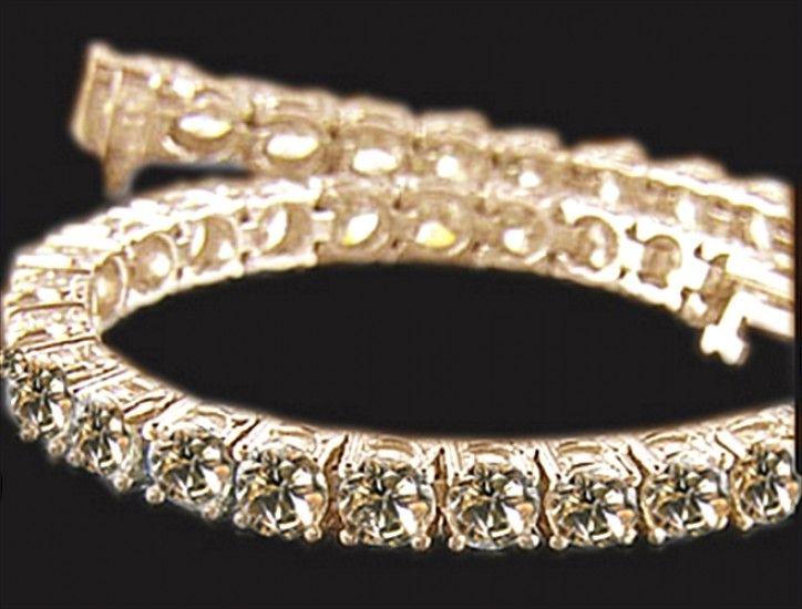 Champagne Diamond Yellow Gold Bracelet