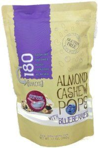 180 Snacks Almond Cashew Pops with Blueberries