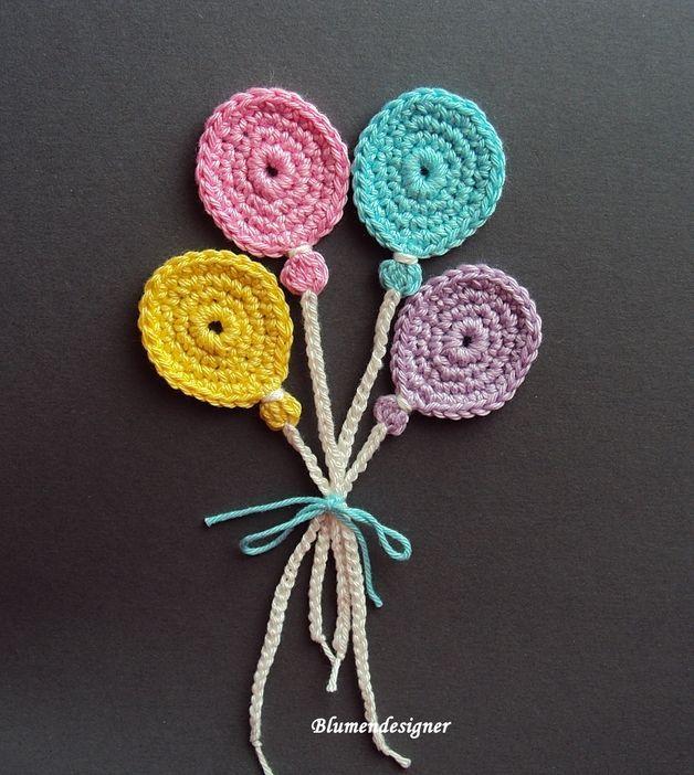 4 wunderschöne Luftballons !! | | örgü susleme | Crochet ...