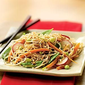 Soba Salad with Soy-Wasabi Vinaigrette | MyRecipes.com