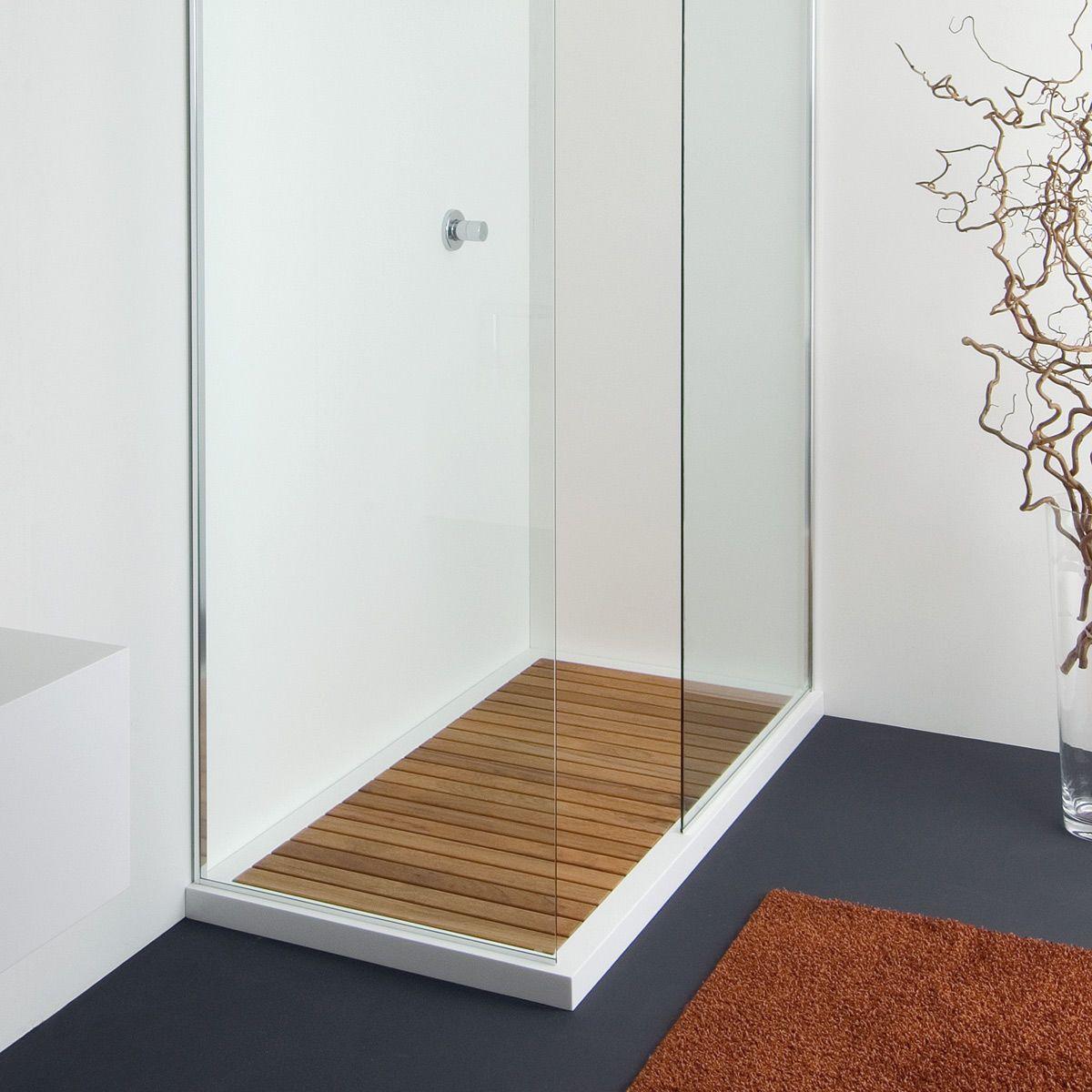 Teak Shower Floor?? Planit Doga Shower Tray: Shower Model Doga 1 In Corian  ®, Removable Teak Slats. Drain Hole Ø 90 Mm. Possible Installation Floor.