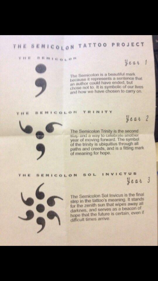 Semicolon Project Bipolar Disorder Pinterest Semicolon Project