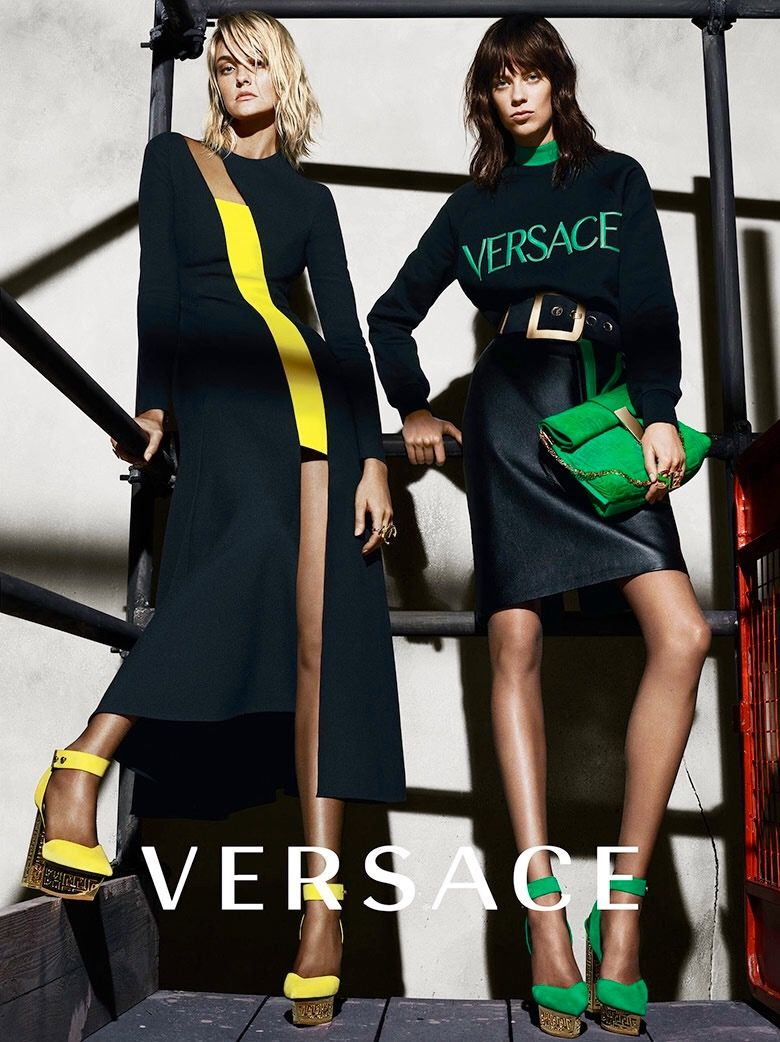 dress - Fall versace ad campaign karlie kloss video