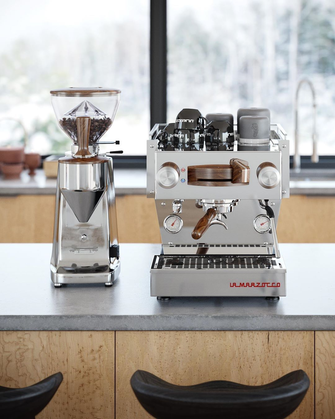 La Marzocco Home On Instagram The Linea Mini In Stainless Walnut Customize Your Dream Home Es Home Espresso Machine Espresso Machine Best Espresso Machine