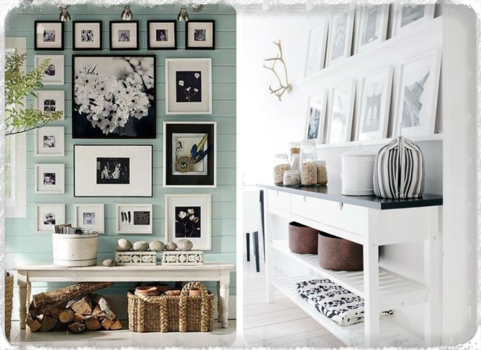 mur de cadres vs tag res de cadres entr e cadres d co frame home decor et wall. Black Bedroom Furniture Sets. Home Design Ideas