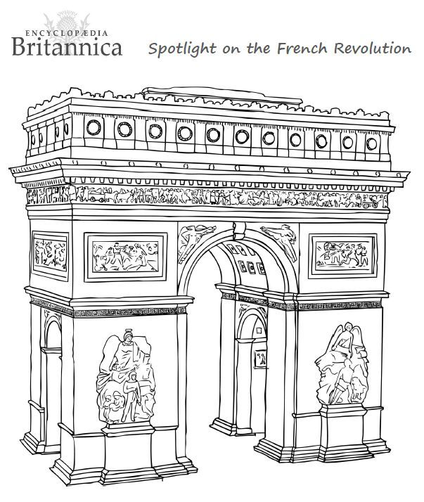 Arc De Triomphe Colouring Activity Another Fun Colouring