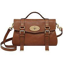 3217e82fe2 Buy Mulberry Alexa Leather Messenger & Shoulder Bag Online at johnlewis.com  £1100.00 (In Tan)