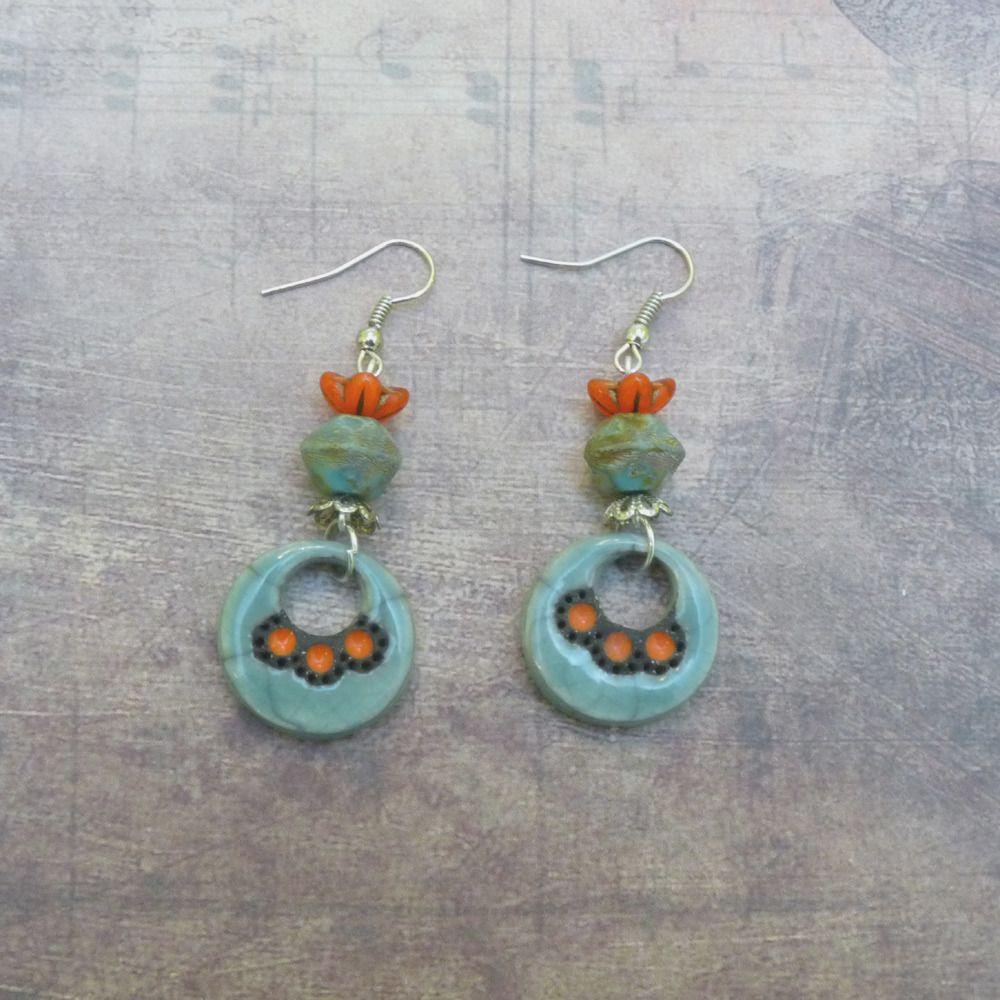 Fashion Femmes Vintage Boucles D/'oreilles Turquoise Dangle Boucles d/'oreilles Pendants d/'oreilles Bijoux